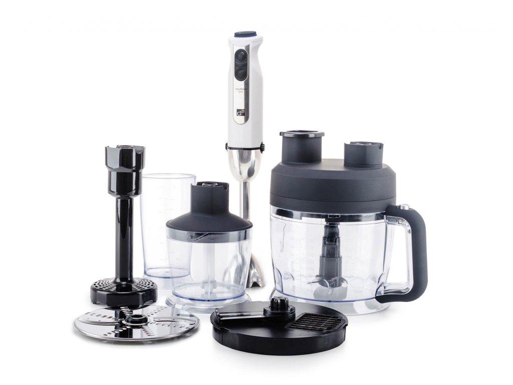 Set G21 mixér VitalStick Pro 1000 W s Food Processorem, White