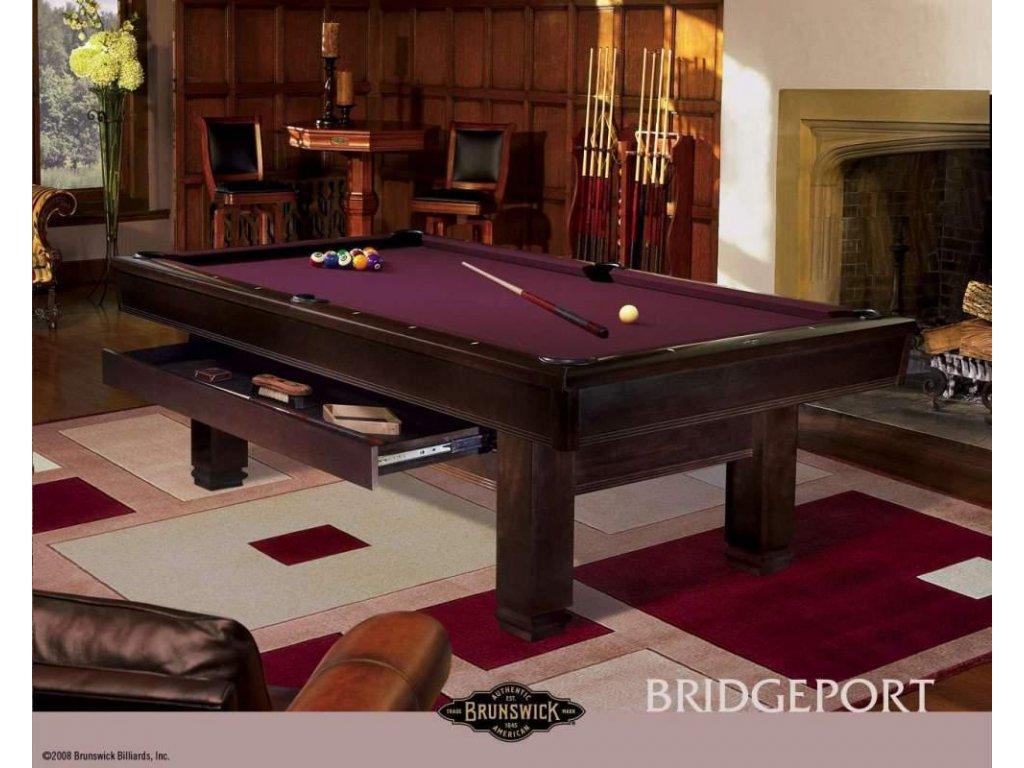 Kulečníkový stůl Brunswick Bridgeport 8ft kaštan, espresso zásuvkový