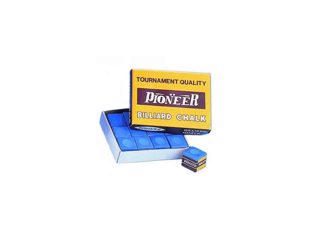 Kulečníková křída Pioneer 12 ks, modrá