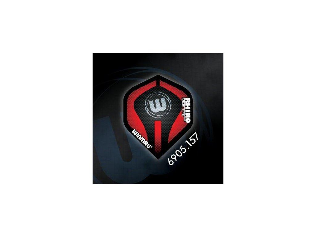 Letky na šípky Winmau RHINO extra hrubé červeno/čierne W