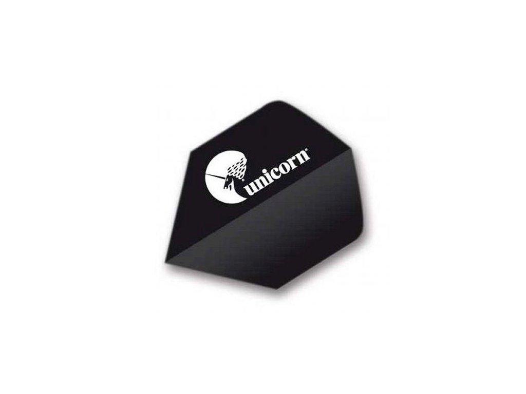 Letky na šípky Unicorn Maestro, 100 Big Wing XL, čierne