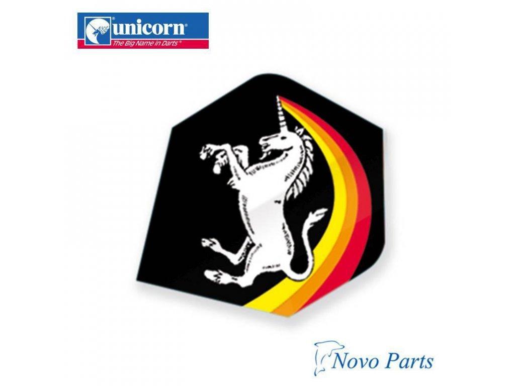 Letky na šípky Unicorn Core 75 Big Rainbow blk