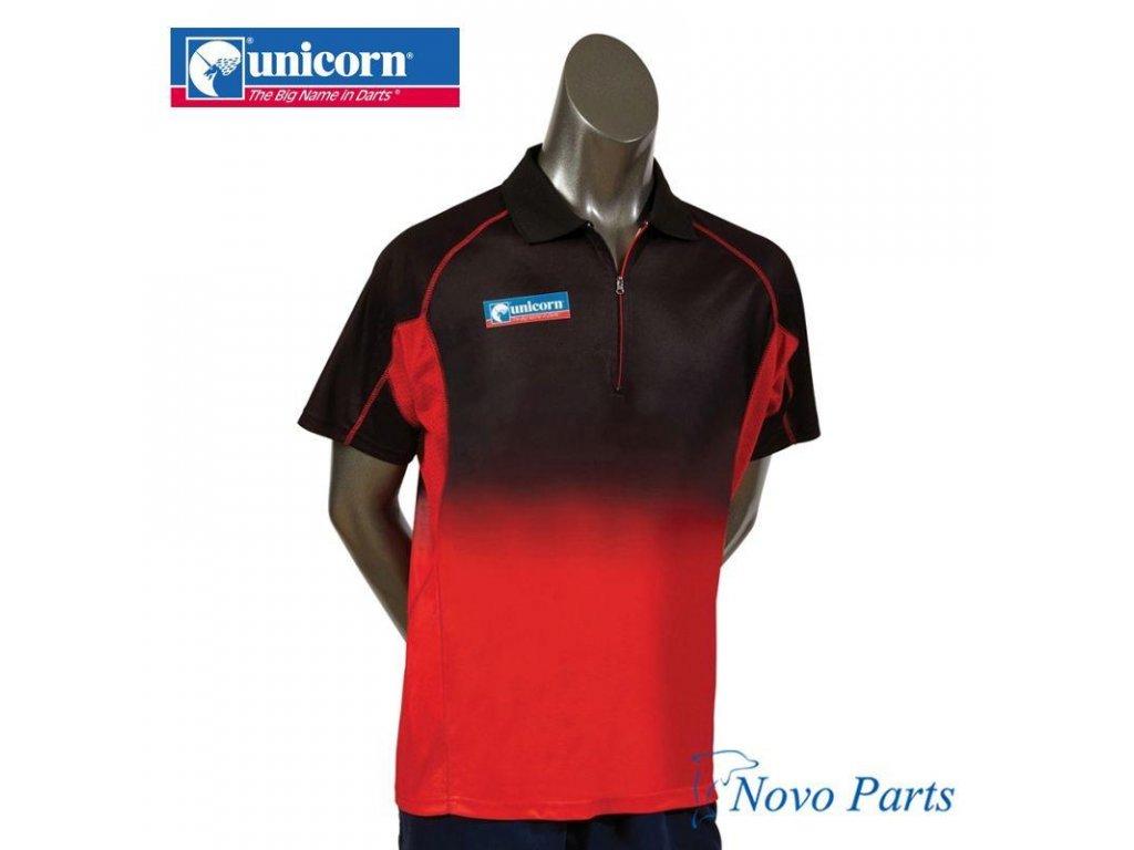 Košeľa Unicorn Pro, čierna/červená/červená, veľkosť XL
