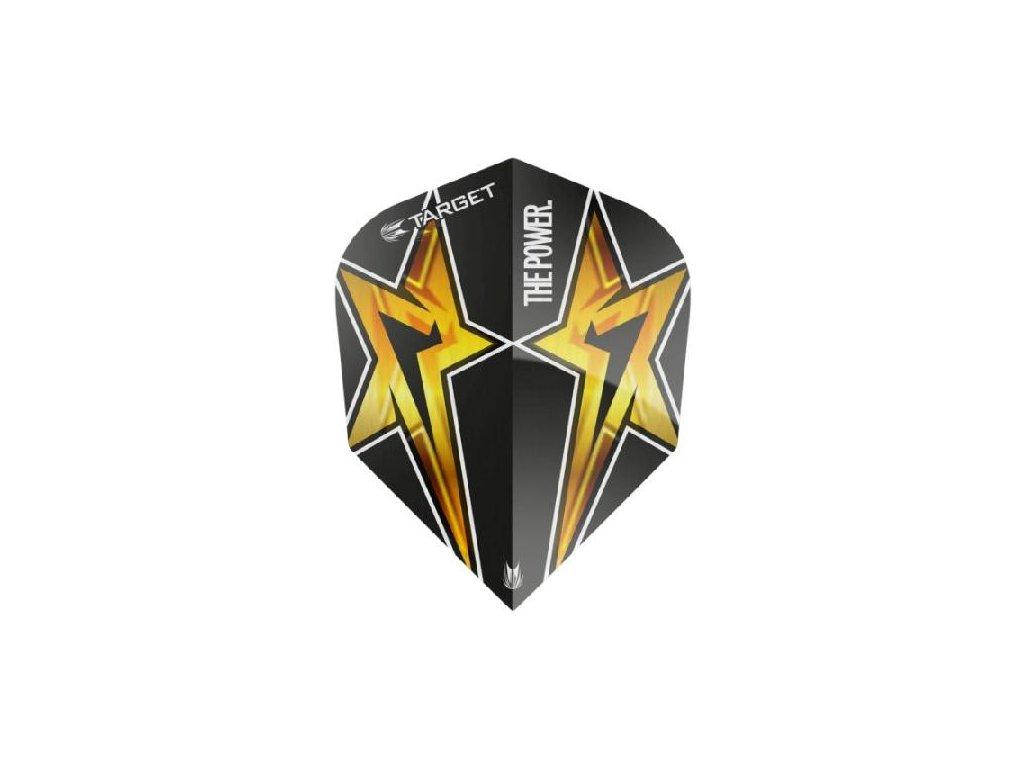 Letky na šípky TARGER POWER STAR čierne