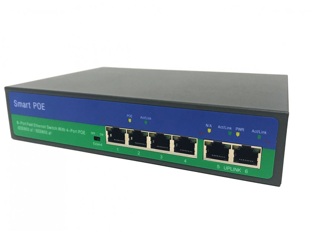 Securia Pro PoE Switch 4CH +2CH N2042P