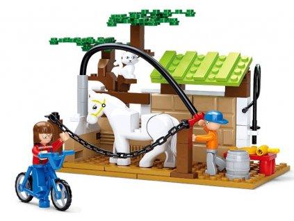 Stavebnice Sluban Farma Péče pro koně