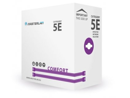 Kabel MasterLan Comfort UTP cat5e drát 305m LSZH