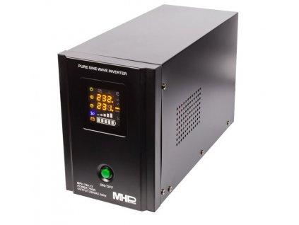 Napěťový měnič MHPower MPU-700-12 12V/230V, 700W, funkce UPS, čistý sinus
