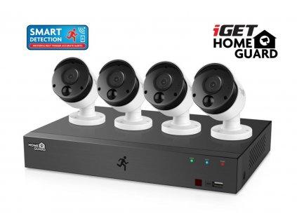 Kamerový set iGET HOMEGUARD HGDVK84404 DVR pro 8 kamer + 4 FullHD kamery