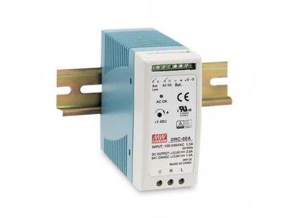 Zdroj Mean-well DRC-60B průmyslový napájecí zdroj 27,6V 1,4A na DIN lištu s funkci UPS