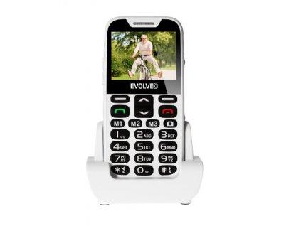 Mobilní telefon Evolveo EasyPhone XD se stojánkem, bílá