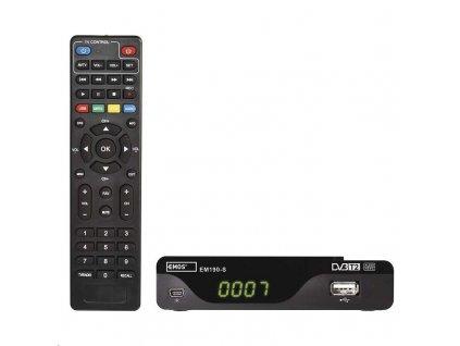 DVB-T2 přijímač Emos EM190-S HD DVB-T2 H.265/HEVC