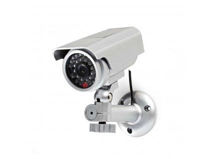Atrapa Nedis bezpečnostní bullet kamery IP44, stříbrná