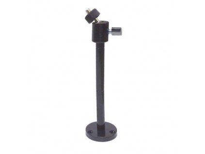 Držák CCTV s kloubem pro kompaktní kameru černý, dlouhý do vnitřního prostředí