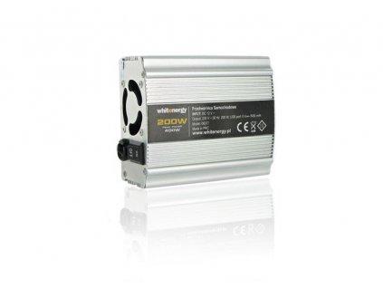 Napěťový měnič Whitenergy DC/AC 12V/230V 200W, USB