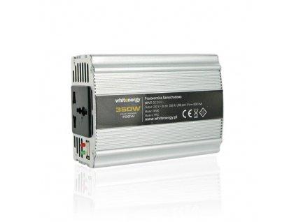 Napěťový měnič Whitenergy DC/AC 12V/230V 350W, USB