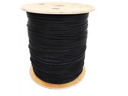 Optický kabel Speed Optics samonosný DROP FTTx 3mm, 12 vláken SM 9/125, G.657A, PU černý (LSZH),500N, převěsy do 120m,