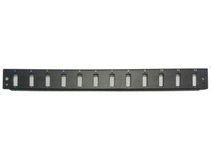 Panel 12xSC duplex pro 19' Optická vana černá