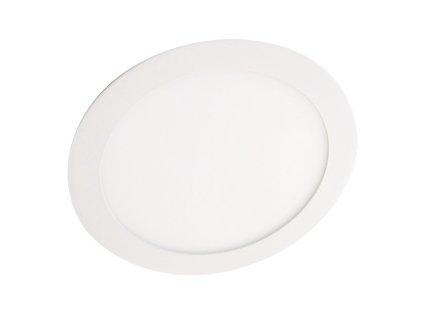 LED svítidlo podhledové kruhové, bílý rámeček, 12W 960 lumen studená bílá, 230V