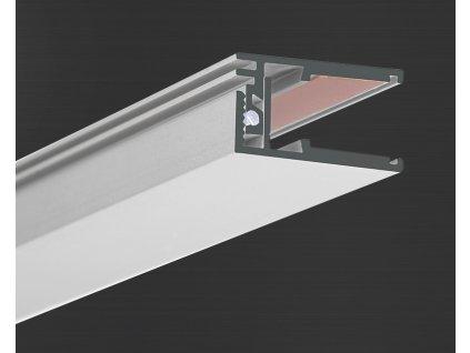 Hliníkový profil Prowax KRAV 810 neanodizovaný, bez difuzoru - 2m