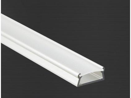 Hliníkový profil Prowax TAMI anodizovaný, bez difuzoru - 2m