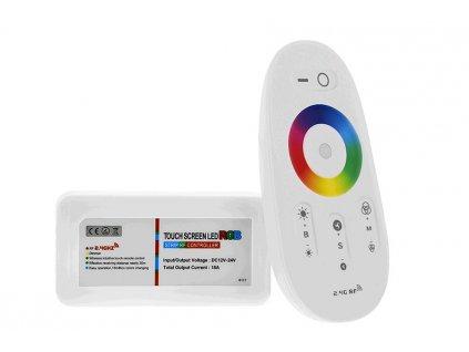 LED kontrolér TLE RGBW RF dotykový - bílý ovladač