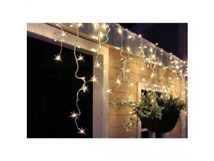 LED řetěz Solight venkovní závěs, rampouchy, 120LED, 3m x 0,7m, přívod 6m, IP44, teplá bílá