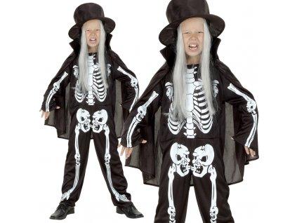 Karnevalový kostým Kostra 130 - 140cm
