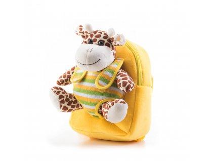 Hračka G21 Batoh s plyšovou žirafou, žlutý