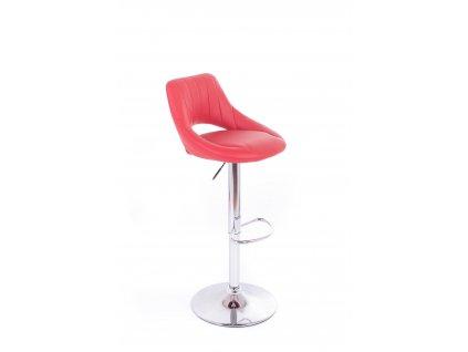 Barová židle G21 Aletra koženková red