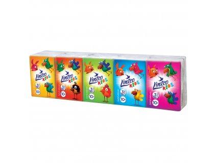 Kapesníčky Linteo Kids mini 10x10ks, bílé, 3-vrstvé