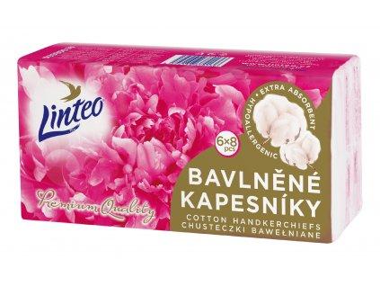 Kapesníčky Linteo Premium 6x8 ks, 1-vrstvé, bavlna