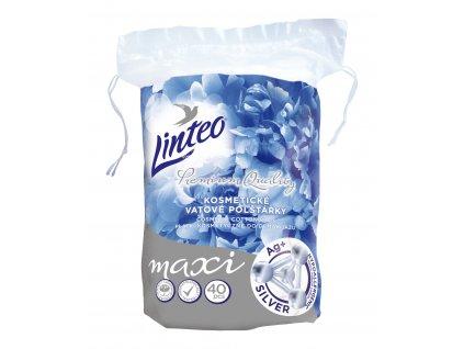 Odličovací polštářky Linteo Premium maxi ovály, ionty stříbra 40ks