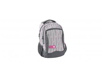Školní taška /batoh PASO 3 kapsy, šedá