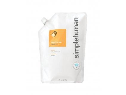 Tekuté mýdlo Simplehuman hydratační, 1 litr náhradní náplň s vůní mandarinky