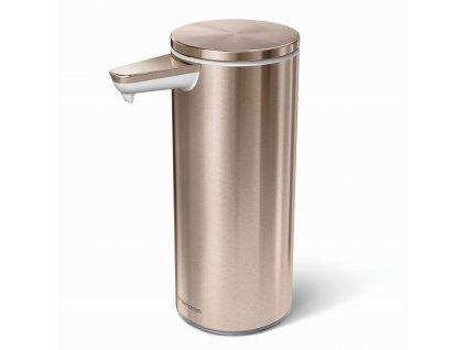 Dávkovač Simplehuman mýdla bezdotykový – 266 ml, Rose Gold ocel, dobíjecí