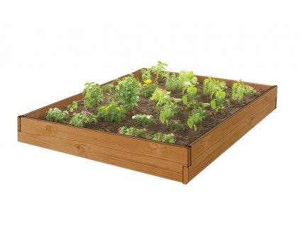 Záhon vyvýšený z imitace dřeva 120x120x15,2 cm