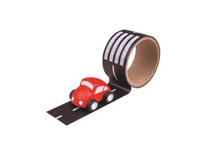 Hračka Bigjigs Toys Lepící páska cesta s autíčkem