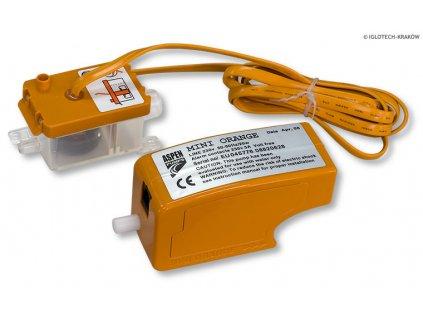 Čerpadlo kondenzátu Aspen Mini Orange kapacita 12l/hod, max. výtlak 10 m (stěna, kanál, strop)