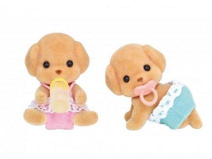 Hračka Sylvanian Family Baby pudlí dvojčata