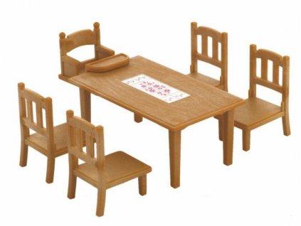 Hračka Sylvanian Family Nábytek - jídelní stůl se židlemi