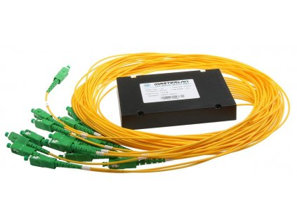 Splitter PLC optický -1x16, 1260-1650nm, ABS box, SC/APC, 1,5m