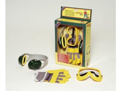 Dětské nářadí Klein Bosch, set sluchátka rukavice brýle