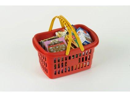 Hračka Klein Nákupní košík s maketami potravin