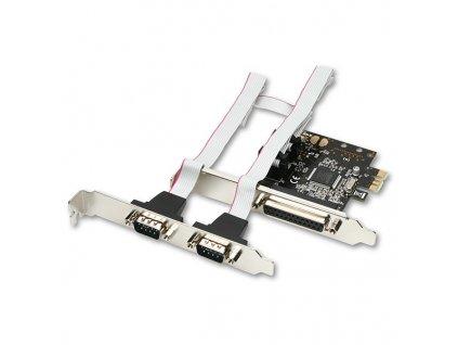Řadič AXAGO PCI-Express adapter 1x paralel + 2x sér.+ LP