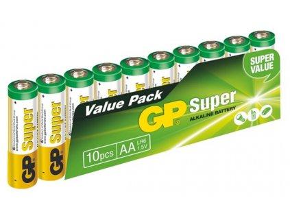 Baterie GP Super Alkaline tužková 1,5V, LR6 AA, 10 ks