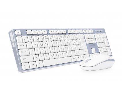 Set klávesnice + myš Connect IT CKM-7500-CS - bezdrátová šedo bílá klávesnice + myš, CZ + SK layout