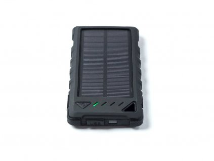 Powerbank DOCA Solar 8 (8000 mAh, solární panel, svítilna, černá)
