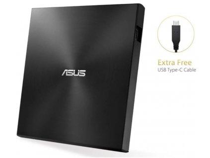 Mechanika Asus SDRW-08U9M-U externí, USB 2.0 a Typ-C, černá