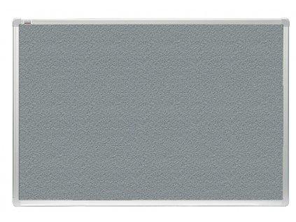Tabule 2x3 filcová officeBoard 120 x 180 cm s hliníkovým rámem, šedá